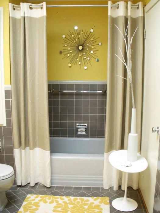 Hoe je badkamer raam gordijnen maken – E2R