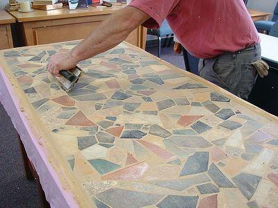 Mozaiek tafel maken bouwmaterialen for Tafelblad maken
