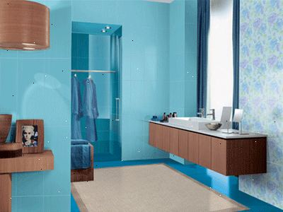 Hoe maak je een badkamer met blauwe en bruine versieren – E2R